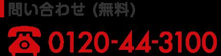 問い合わせ(無料) 0120-44-3100